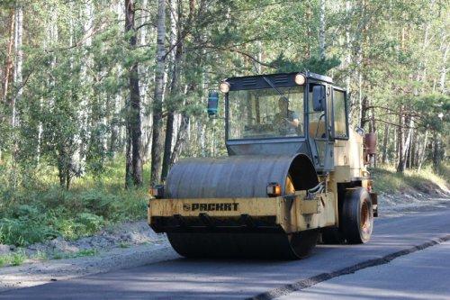 На Татышском шоссе продолжается ремонт дорожного полотна