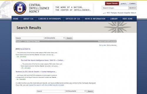 Озёрск в архивах ЦРУ