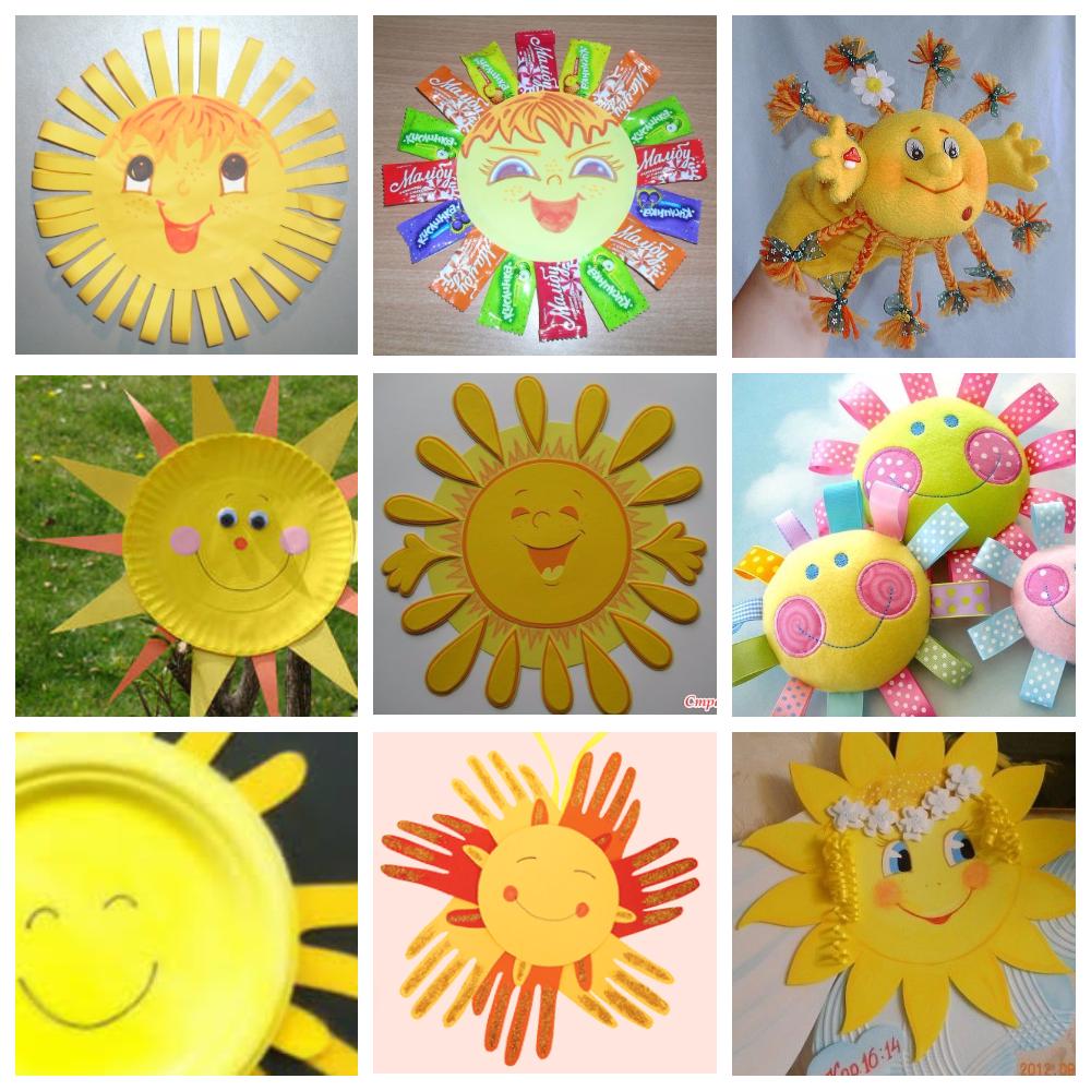 Как своими руками сделать солнце из