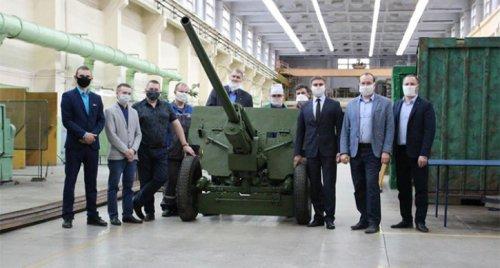 В Снежинске отреставрировали пушку военных лет