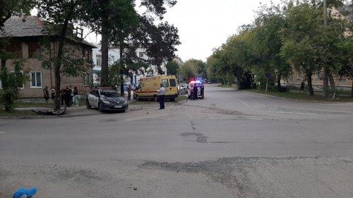ДТП на перекрестке улицы Строительной с улицей Блюхера