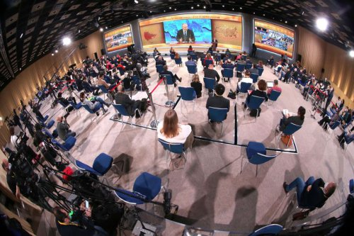 Прививка единства Владимир Путин подвел итоги года на пресс-конференции онлайн